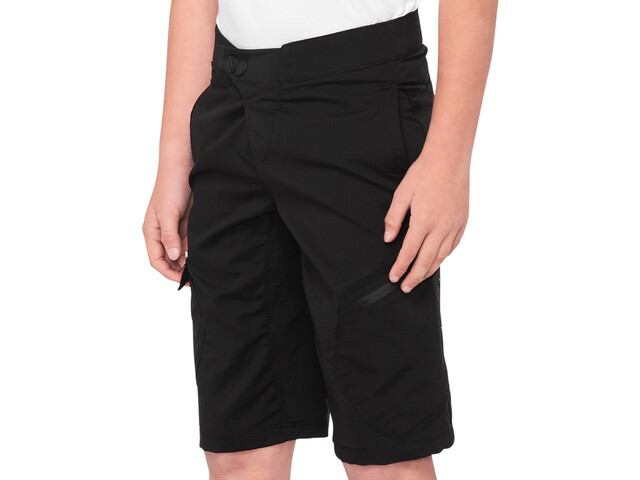 100% Ridecamp Shorts Herrer, black